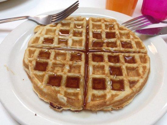 Orange Village Hostel : All you can made waffles breakfast