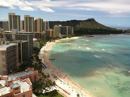 Outrigger Reef Waikiki Beach Resort View From Oceanview Room Of Diamond Head