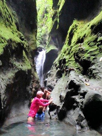 Les Gorges de la Falaise : inthe gorge t the falls