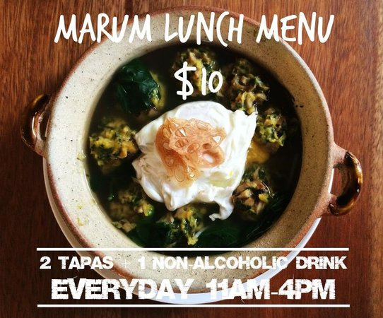 Marum Lunch Special