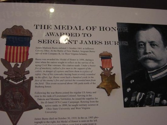 New Market Battlefield Military Museum: information about medal of honor