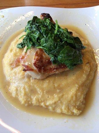 Zucca Trattoria : Stuffed chicken over polenta
