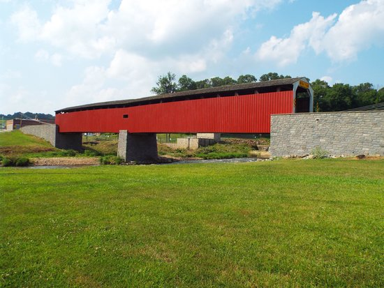 Strasburg Scooters: one of the covered bridges