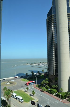 Omni Corpus Christi Hotel: The view while waiting on the elevator..