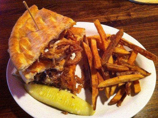 Johnny Biggs: Chicken and onion straw panini
