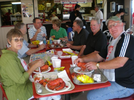 Abbott's Lobster In The Rough with friends