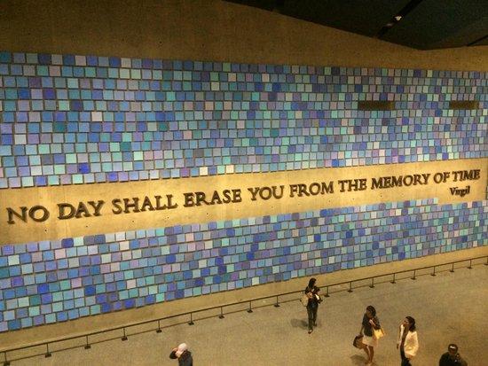 Mémorial du 11-Septembre : No day shall erase you from the memory of time