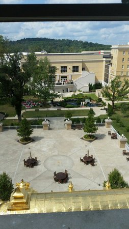 French Lick Springs Hotel: View from 5th floor spring wing.