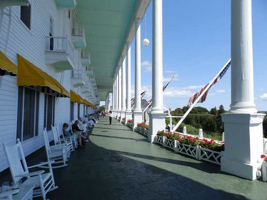The Grand Hotel Luncheon Buffet: Rocking on the porch