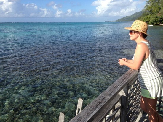 Hilton Moorea Lagoon Resort & Spa: lagoon view from our bungalow #53