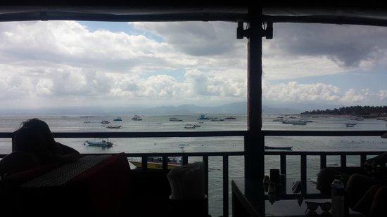 Lembongan Reef Bungalow: View from Restaurant