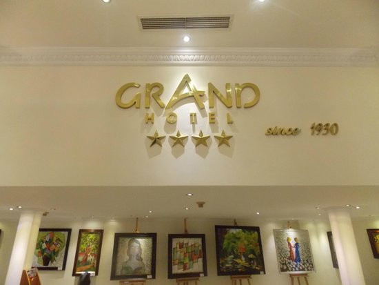 Grand Hotel Saigon: The Sign in the Lobby