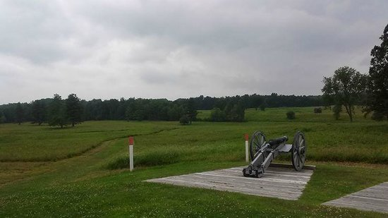 Saratoga National Historical Park: View from one of the American positions