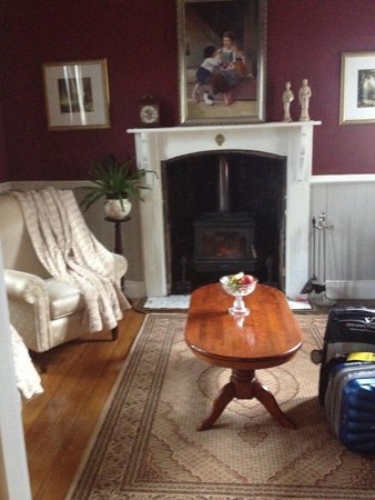 Willow Lodge: Beautiful sitting room and cosy fire