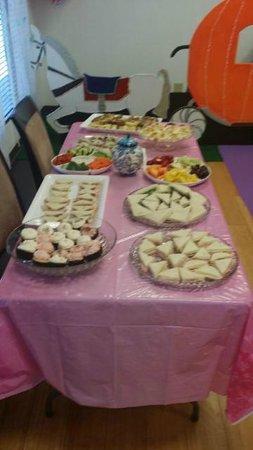 Miss Gloria's Tea House: Food prepared for Camila's 4th Birthday Tea Party