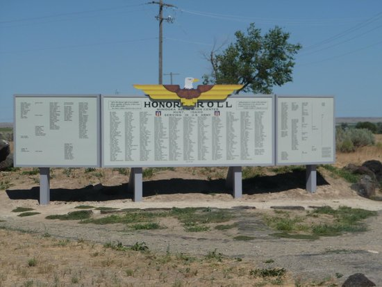 Minidoka Internment National Monument: the Honor Roll board for those who served in the war