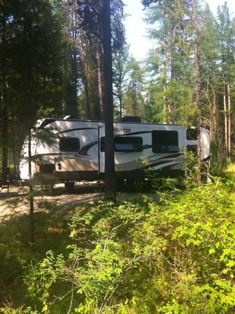 Moyie, Kanada: Spacious and plenty of trees