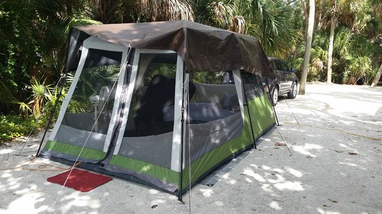 Fort De Soto Park: We stayed in tents