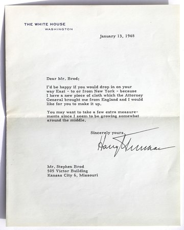Harry S. Truman Library and Museum: One of many letters