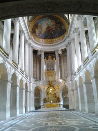 La Chapelle Royale : From ground level looking up