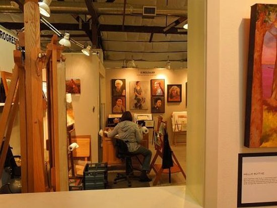 Studios on the Park: A peak inside one artist's studio. The main gallery is in the hallway that leads to studios.