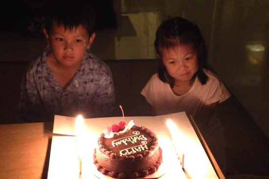 Grand West Sands Resort & Villas Phuket: Birthday Cake Sent by Asst.Manager Gum to our kids