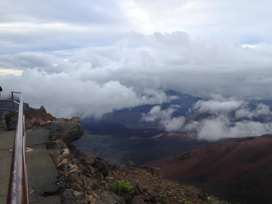 Haleakala Crater: View from the top of Haleakala