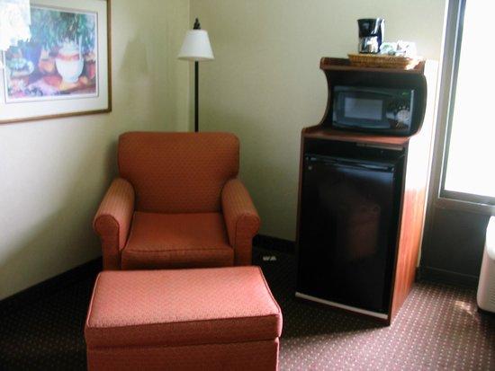 Hampton Inn Los Angeles/West Covina: Chair & mini kitchen