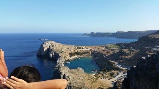 Agios Pavlos Beach (Saint Paul): Vista della Baia dall'acropoli
