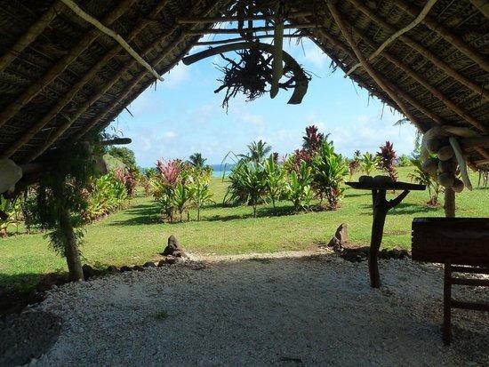 Aitutaki Punarei Culture Day Tour: Cultural Village entrance