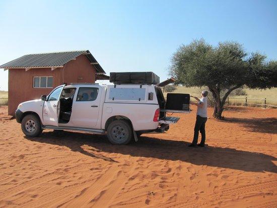 Bagatelle Kalahari Game Ranch: unser Campsite