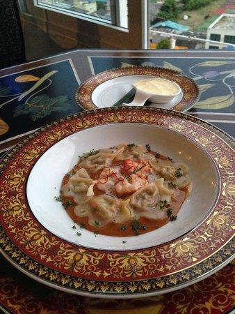 Le Versace: Prawn & Lobster Ravioli