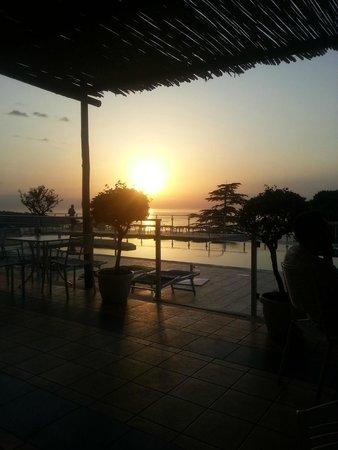 Art Hotel Gran Paradiso: coucher du soleil