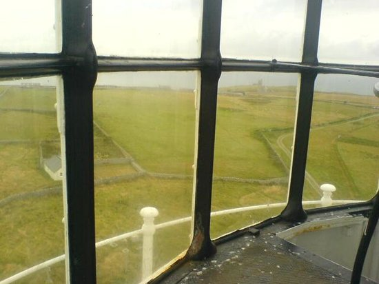 Lundy Island: view from top of the old lighthouse