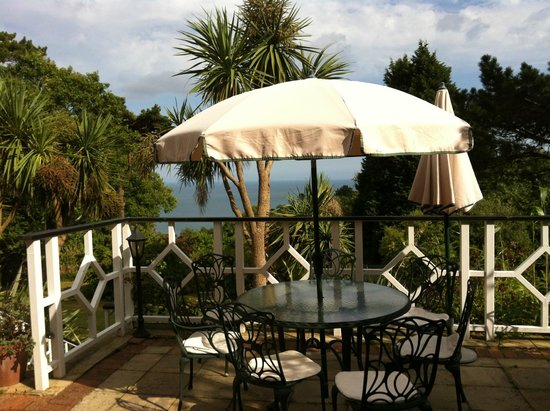 Restaurant at Orestone Manor: 5* view from lovely terrace