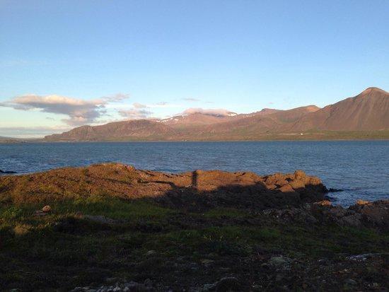 Bjarg : Blick von der Unterkunft