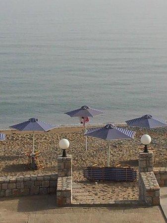 Galini Beach Hotel: Vista mare dal balcone dell'hotel