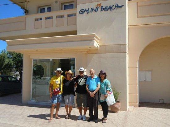 Galini Beach Hotel: Noi in partenza!