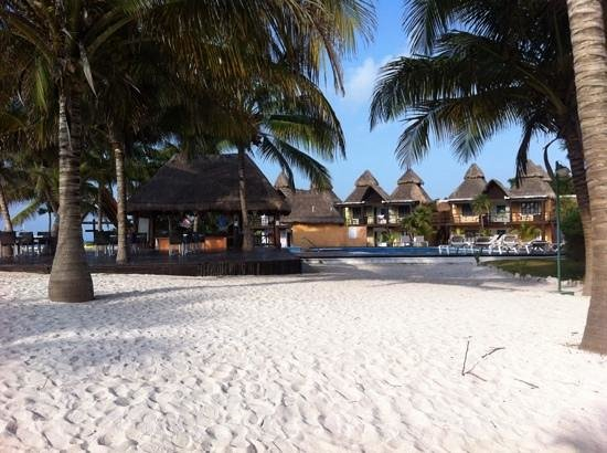 PavoReal Beach Resort Tulum: bar entre la plage et une des piscines
