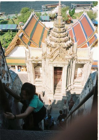 Wat Arun (Tempel der Morgenröte): on the top