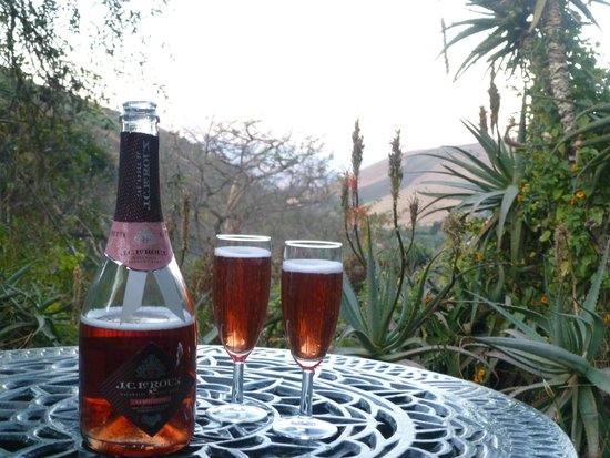 The Cavern Resort & Spa: Sundowners on the terrace of our room