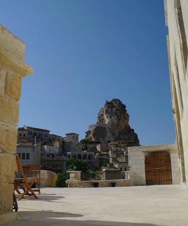 Dreams Cave Cappadocia : La terrasse devant notre chambre n° 32