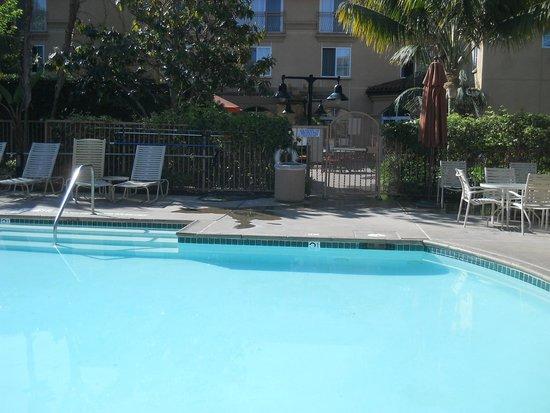 Hilton Garden Inn Carlsbad Beach : 4月末 朝のプール