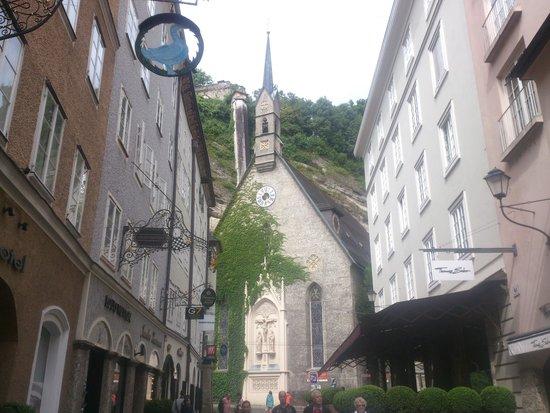 St. Blasius Church : Salzburg - St. Blasius Kirche - view from Getreidegasse