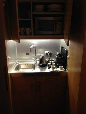 The Nadler Kensington: The kitchen in the cupboard!
