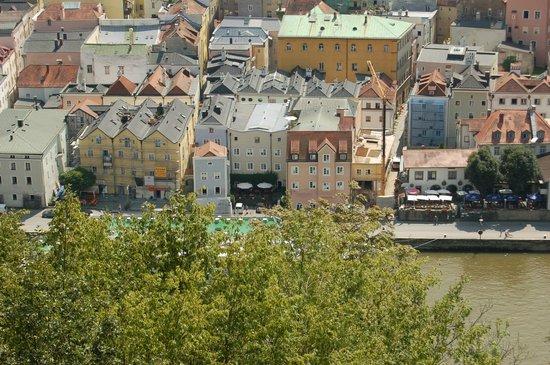 Hotel Residenz Passau: View of Hotel from Veste Oberhaus