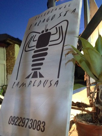 Ristorante L'Aragosta : Insegna