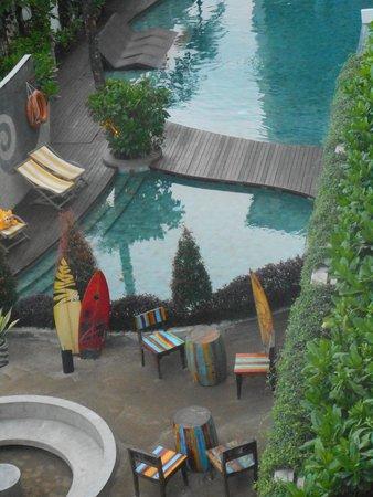 Bliss Surfer Hotel: vue de notre chambre