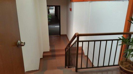 Stair cases in hotel puri melaka