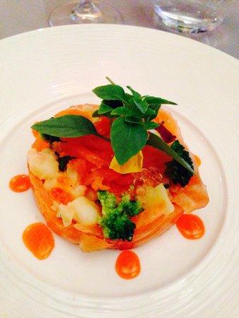 Restaurant David : Smoked salmon salad